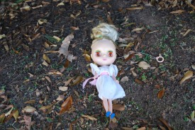 blythe doll on the ground by brooke gibbons