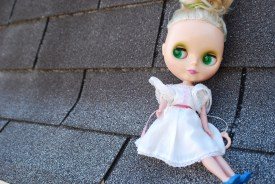 blythe doll on the roof by brooke gibbons
