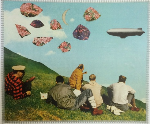 brooke gibbons analog collage surreal vintage ephemera blimp