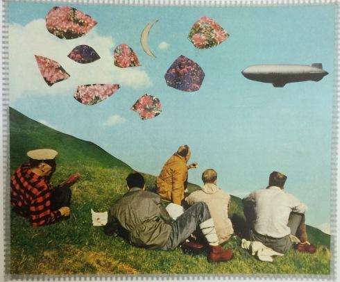 brooke gibbons analog collage surreal vintage ephemera blimp