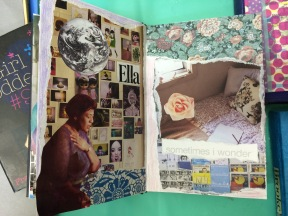 brooke gibbons art journal collage ella fitzgerald charlotte