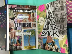 brooke gibbons collage art journal feminista beyonce charlotte