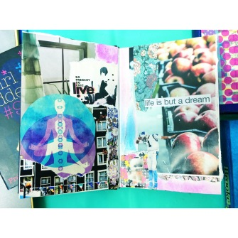 brooke gibbons collage art journal life is but a dream cam newton charlotte panthers