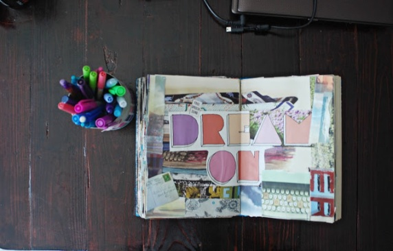 brooke gibbons collage art journal