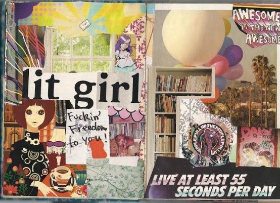 collage journal lit girl art journal brooke gibbons