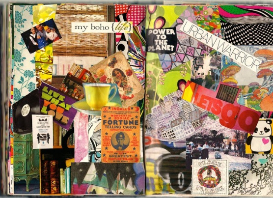 collage scan art journal brooke gibbons