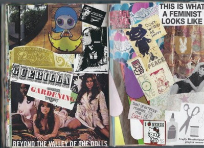 collage spread art journal brooke gibbons