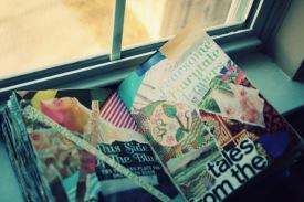 fairytale collage window art journal brooke gibbons