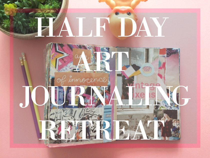 HALF DAY ART JOURNALING RETREAT CHARLOTTE ART LEAGUE BROOKE GIBBONS COLLAGE WRITING ART CAMP