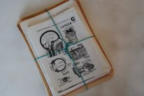 illustrated dictionary pages vintage scrap