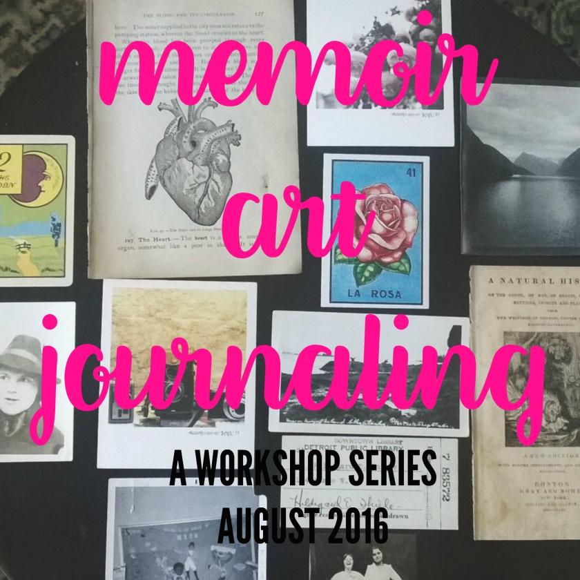 memoir art journaling writing brooke gibbons charlotte art league workshop class