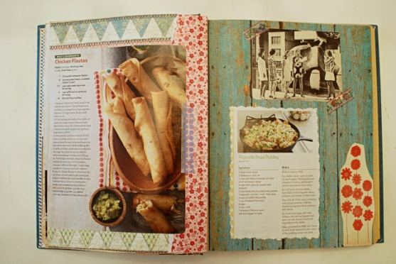 vintage collage ephemera recipe book art brooke gibbons 3