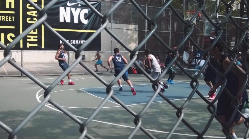 4th street basketball players court village new york summer
