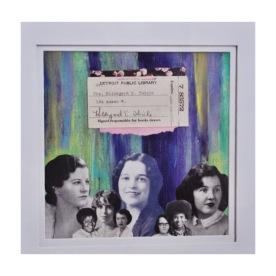 mixed media acrylic and vintage paper ephemera art by brooke gibbon