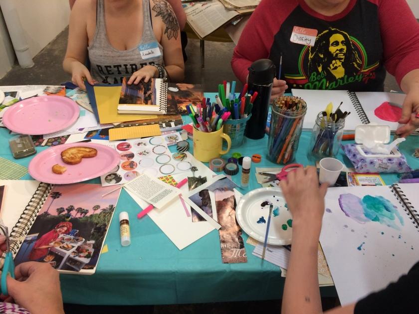 art journaling brooke gibbons workshop charlotte